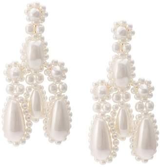 Simone Rocha pearl chandelier earrings