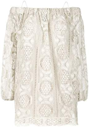 Blumarine embroidered off-the-shoulder blouse