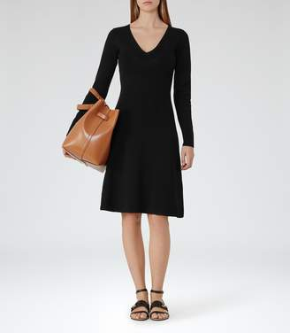 Reiss Emelia Knitted Fit And Flare Dress