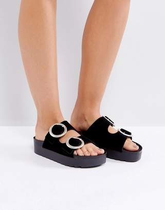 Sixty Seven Flat Sandals - Black Sixtyseven YA6FvhgSaV