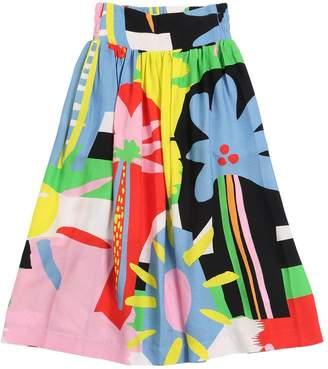 Stella McCartney Printed Viscose Crepe Maxi Skirt
