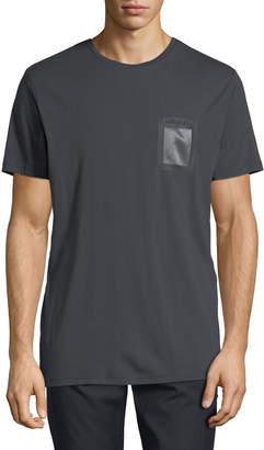 Karl Lagerfeld Paris Men's Crewneck Mesh-Pocket T-Shirt