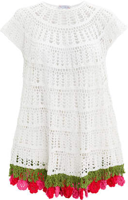 My Beachy Side Carmen Crochet Mini Dress