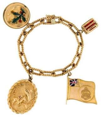 14K Enamel Charm Bracelet