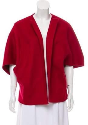 Michael Kors Virgin Wool Open-Front Cape