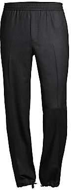 Salvatore Ferragamo Men's Cinched Ankle Virgin Wool Joggers