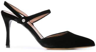 Tabitha Simmons ankle straps pumps