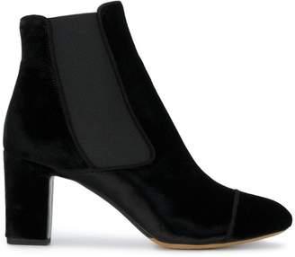 Tabitha Simmons Black Kiki 75 velvet ankle boots