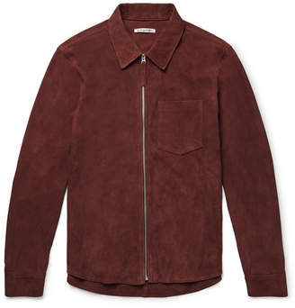 Our Legacy Slim-Fit Suede Shirt Jacket