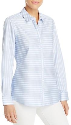 Foxcroft Brooke Stripe Non-Iron Shirt $89 thestylecure.com