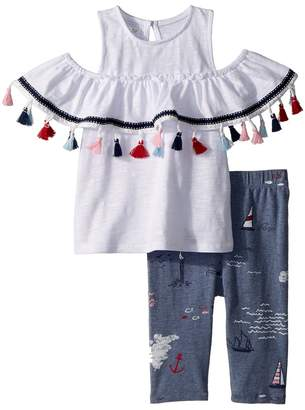 Mud Pie Tassel Tunic and Capris Two-Piece Set Girl's Suits Sets