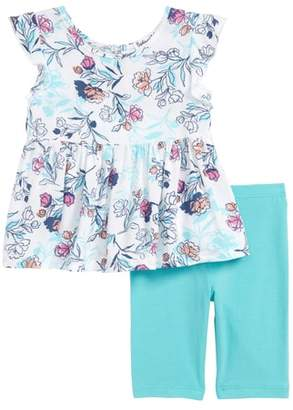 Splendid Floral Print Top & Leggings Set