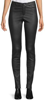 SET Women's Skinny Leather Pants