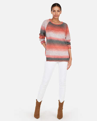 Express Petite Ombre Space Dye Oversized Tunic Sweater