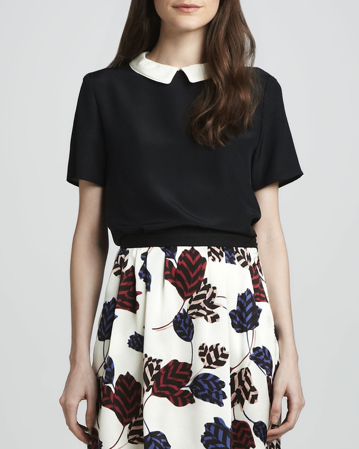Marc by Marc Jacobs Alex Contrast-Collar Top