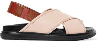 Marni Leather Slingback Sandals - Blush
