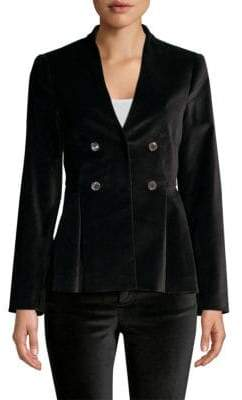 Rebecca Taylor Velveteen Long-Sleeve Jacket