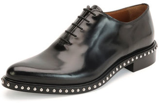 Givenchy Pirro Lace-Up Studded Shoe, Black $1,050 thestylecure.com