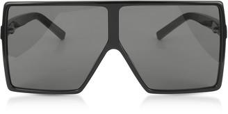 Saint Laurent New Wave 183 Shiny Black Acetate Betty Sunglasses