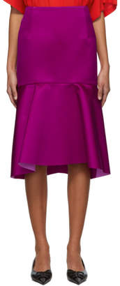 Balenciaga Pink Silk Godet Skirt