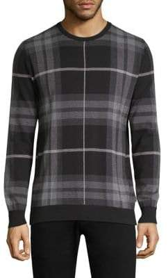 Barbour Tartan Jacquard Crewneck Sweater