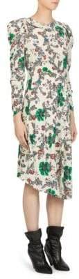 Isabel Marant Carley Floral Print Silk Dress