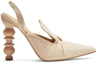 Rosie Assoulin Rasin sculptured-heel slingback pumps