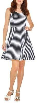 Dorothy Perkins Printed Fit-and-Flare Dress