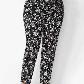 Talbots Plus Size Hampshire Ankle Pants - Petal Print