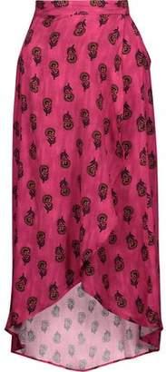 Vix Paula Hermanny Vix Paulahermanny Laos Asymmetric Printed Voile Wrap Skirt