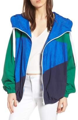 KENDALL + KYLIE Colorblock Windbreaker Jacket