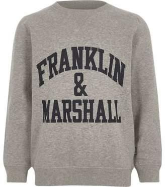 River Island Boys grey Franklin and Marshall sweatshirt