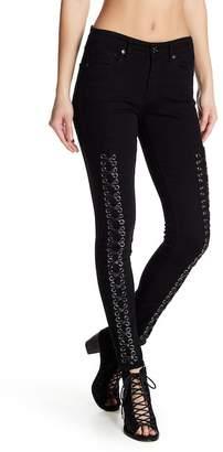 True Religion Jennie Lace-Up Skinny Jeans