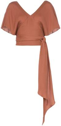 Jacquemus v neck wrap top