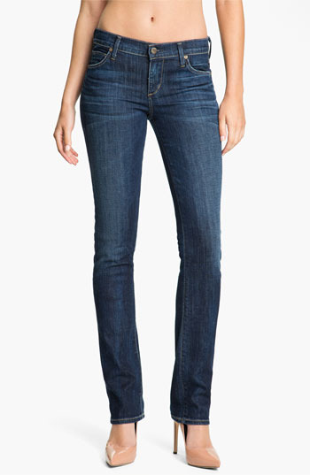 Citizens of Humanity 'Ava' Straight Leg Stretch Denim Jeans (New Spectrum) Womens New Spectrum Size 24 24