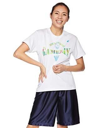 Converse (コンバース) - [コンバース] バスケ 半袖プリントTシャツ 練習用 吸汗・速乾 CB391301 ホワイト×スカイブルー 日本 M (日本サイズM相当)