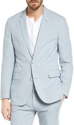 J.Crew J. CREW Ludlow Houndstooth Cotton & Linen Sport Coat