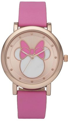 Disney's Minnie Mouse Silhouette Kids' Watch $24.99 thestylecure.com