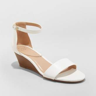 A New Day Women's Wilda Strappy Sliver Ankle Strap Wedge Sandals
