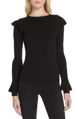 Alice + Olivia Mittie Ruffled Pullover Sweater