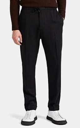 Officine Generale Men's Twill Drawstring Crop Trousers - Black