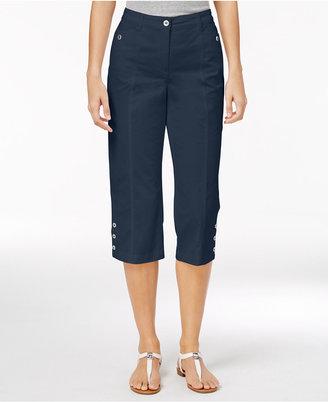 Karen Scott Button-Hem Capri Pants, Only at Macy's $39.50 thestylecure.com