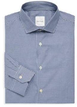 Paul Smith Regular-Fit Gingham Print Dress Shirt