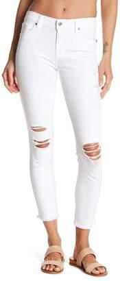 7 For All Mankind Gwenevere Frayed Hem Destroyed Ankle Jeans