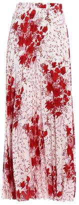 Ermanno Scervino Floral Pleated Skirt