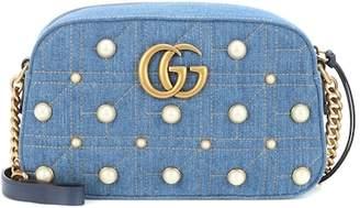 Gucci GG Marmont Small denim shoulder bag