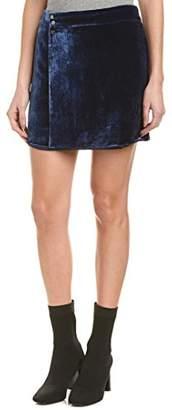 BCBGMAXAZRIA Women's Albie Woven Crushed Velvet Mini Skirt