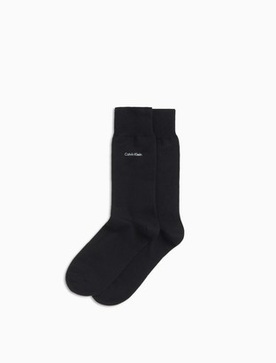 Calvin Klein signature cotton blend flat knit socks