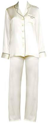 Fleurette Ginia Bride Silk Pajama Top and Pants