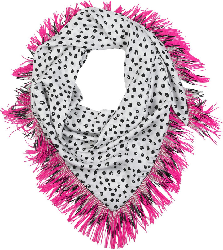 Prova Pacman Polka Dot silk scarf